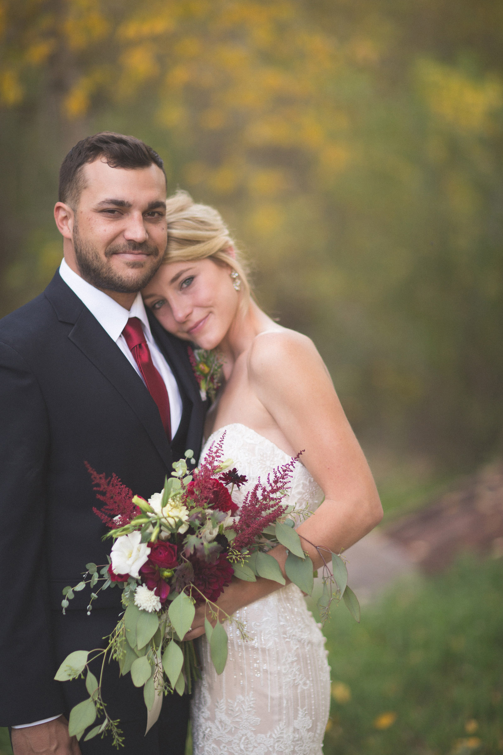 beautiful bride and groom photojournalist portraits at elopement wedding in durango co
